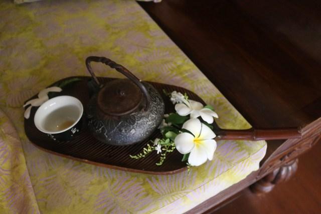 ginger tea at Tirta Spa Boracay