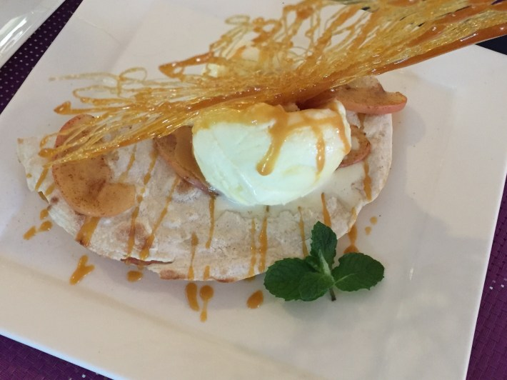Peaches and cream roti