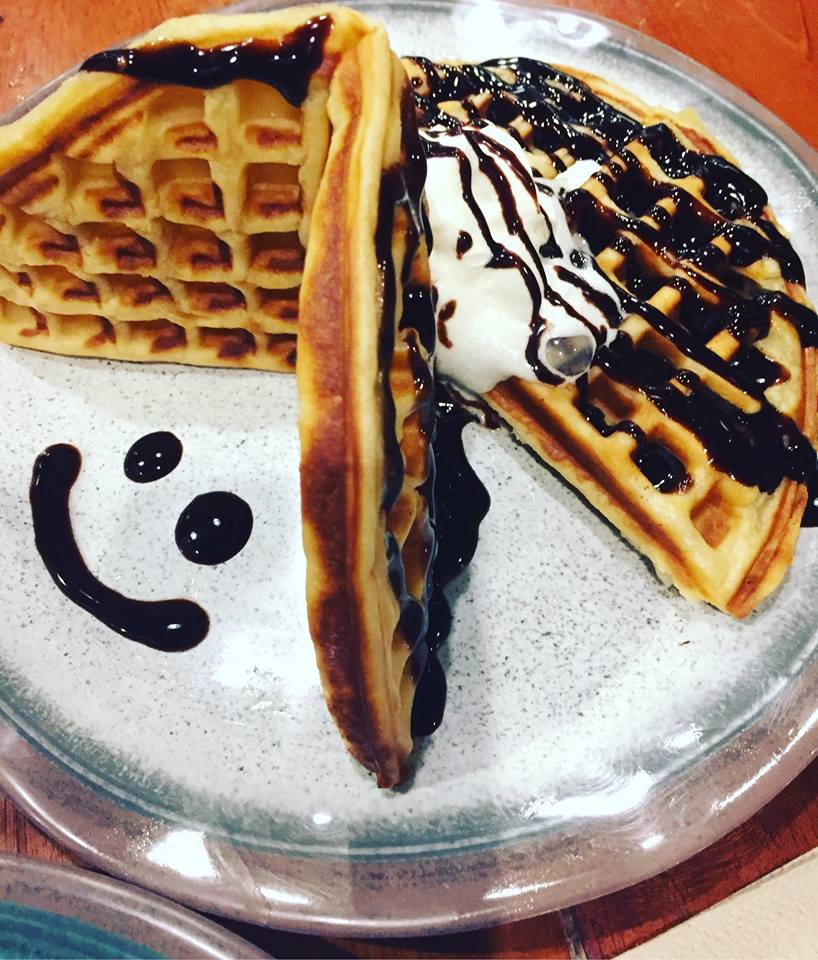 choco ala mode waffle at Cafe Esse