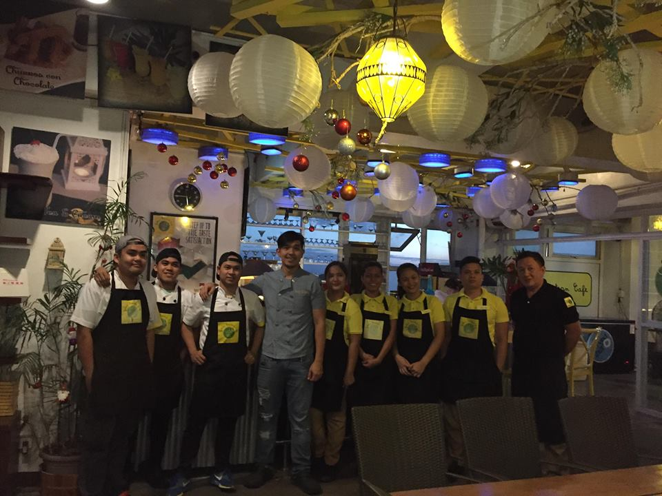 Chef Carl and the staff of Yellow Lantern Cafe Antipolo
