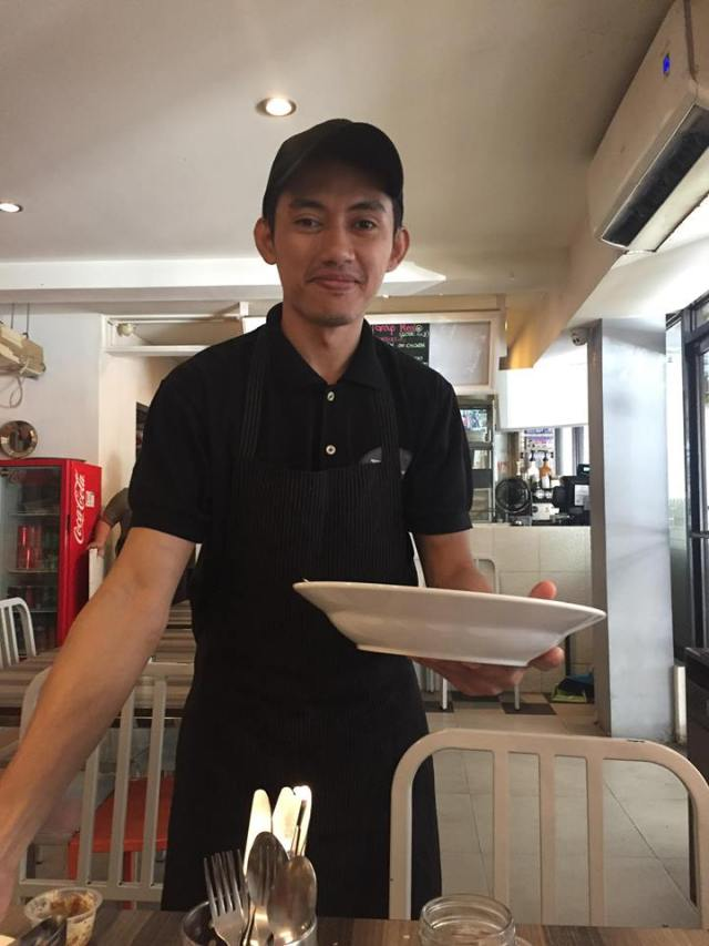one of the staff in Burp Restaurant who got our orders