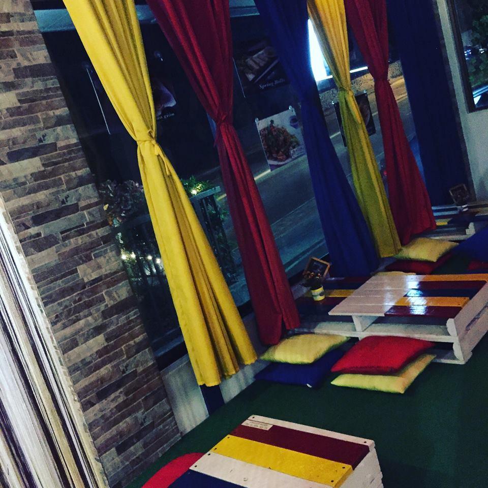 vietnamese seating at Ban Be Ca Phe Antipolo