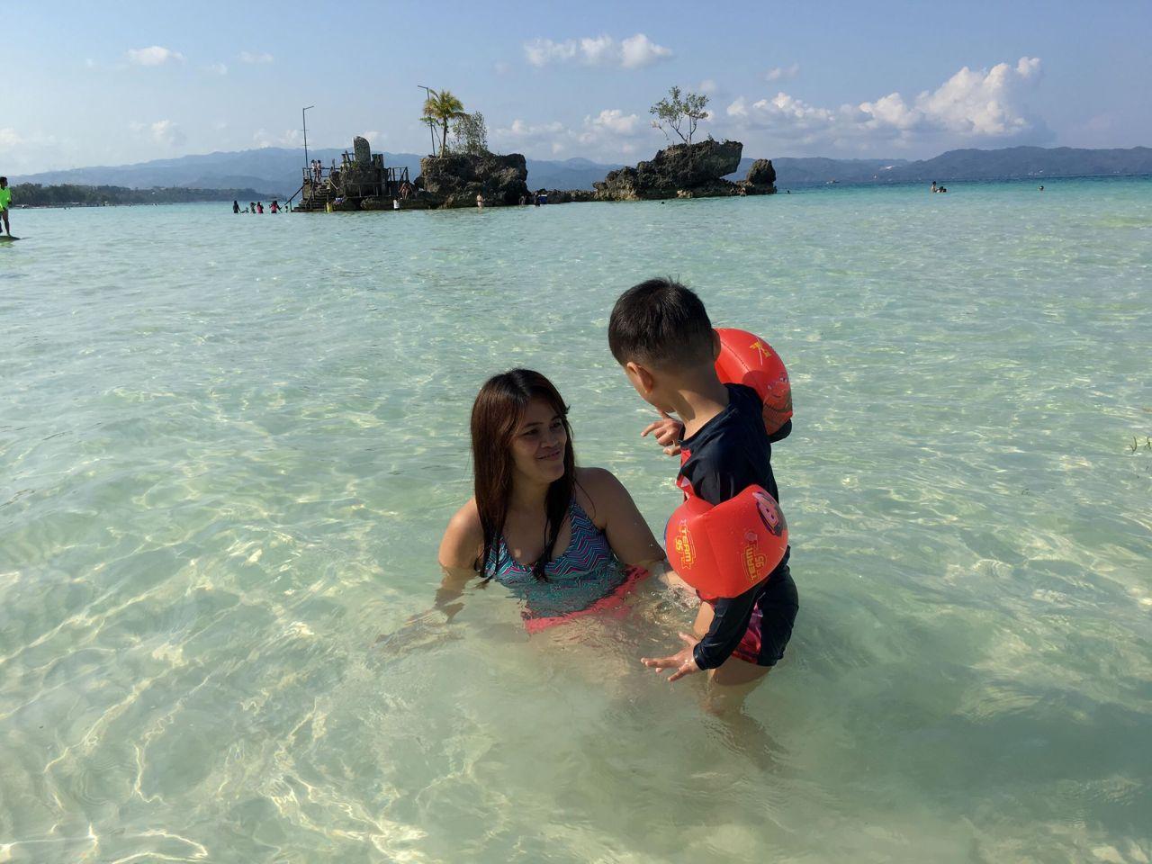 beach with bruce at Boracay 2019