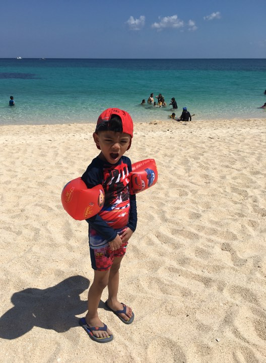 Bruce at Puka Beach during our Boracay 2019 vacation