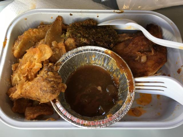 roasted chicken inflight meal from Airasia