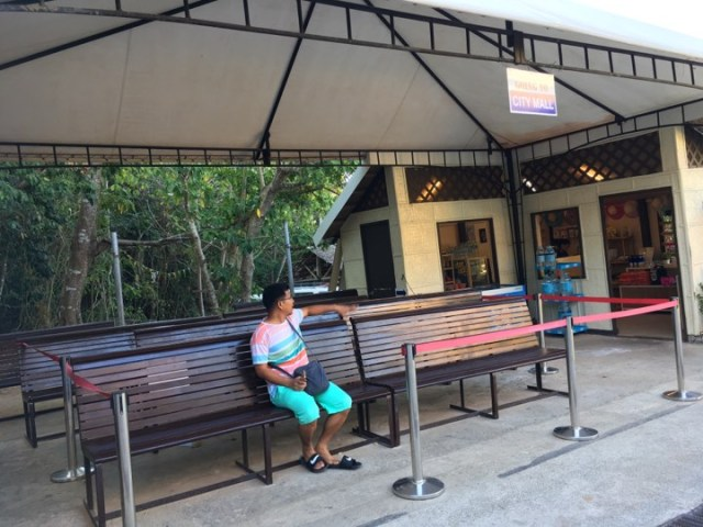 at the waiting area waiting for the shuttle service at Alta Vista de Boracay during our Boracay 2019 Day 3 vacation