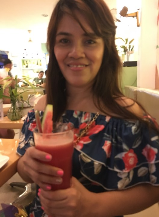 watermelon ginger juice. at Lemoni Cafe during our Boracay 2019 Day 3 vacation