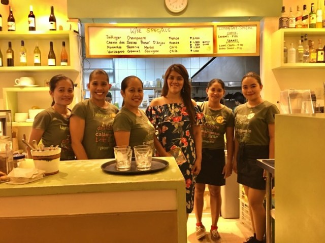 with the staff of Lemoni Cafe during our Boracay 2019 Day 3 vacation