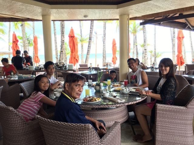 breakfast at Ambassador in Paradise Boracay