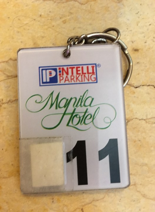 car pass at the Manila Hotel