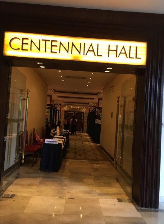 the Centennial Hotel at the Manila Hotel