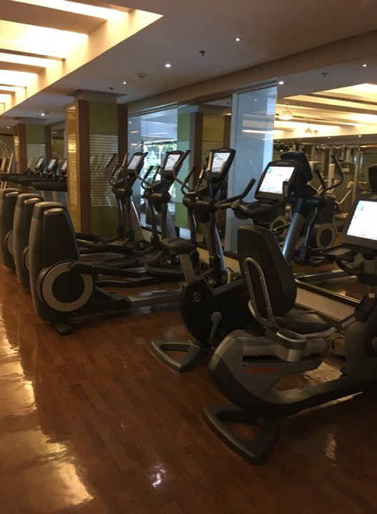 the cardio machines at the Manila Hotel Fitness Center