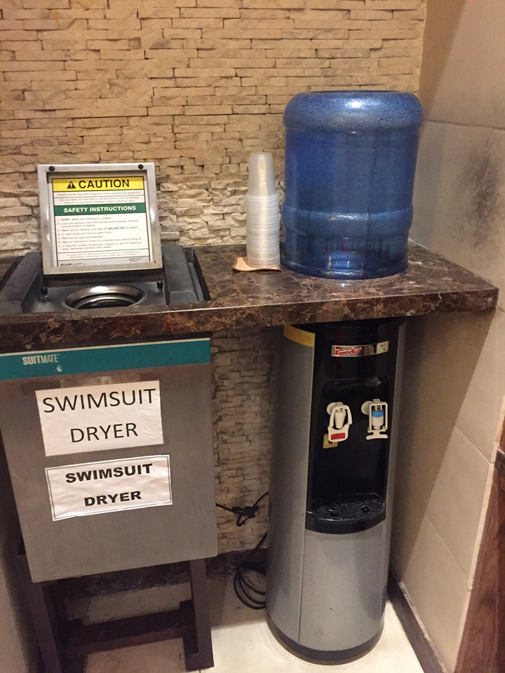 swimsuit dryer in the female changing room at the Manila Hotel