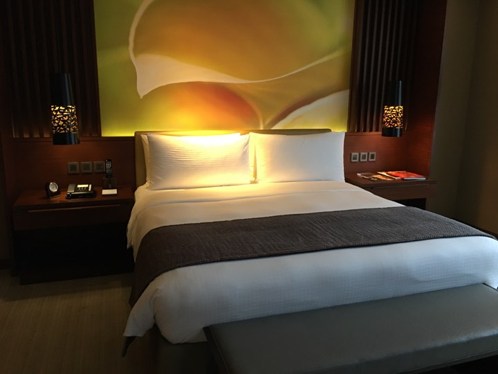 bedroom at the Continental Club at Marco Polo Ortigas