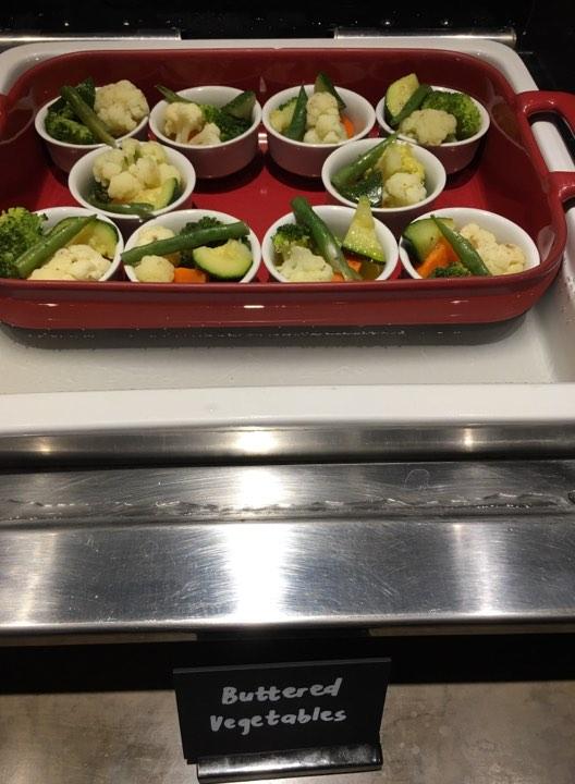 buttered vegetables