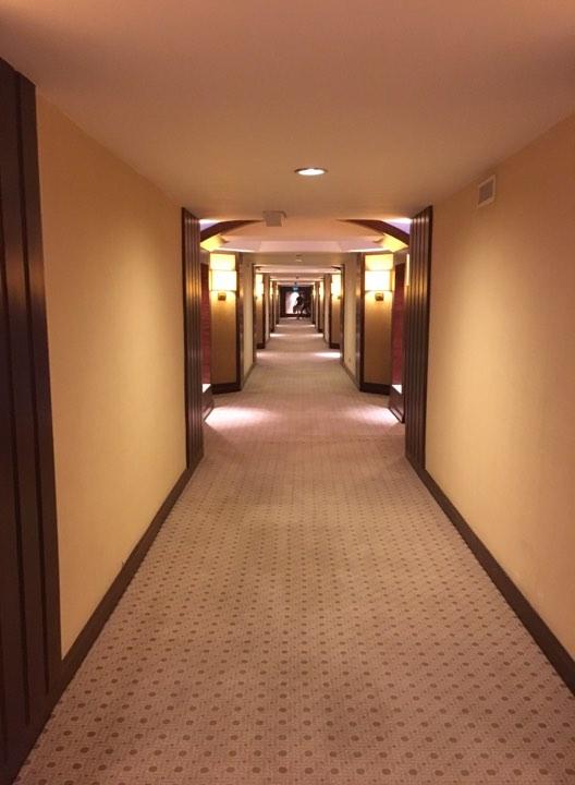 corridor at the Manila Hotel