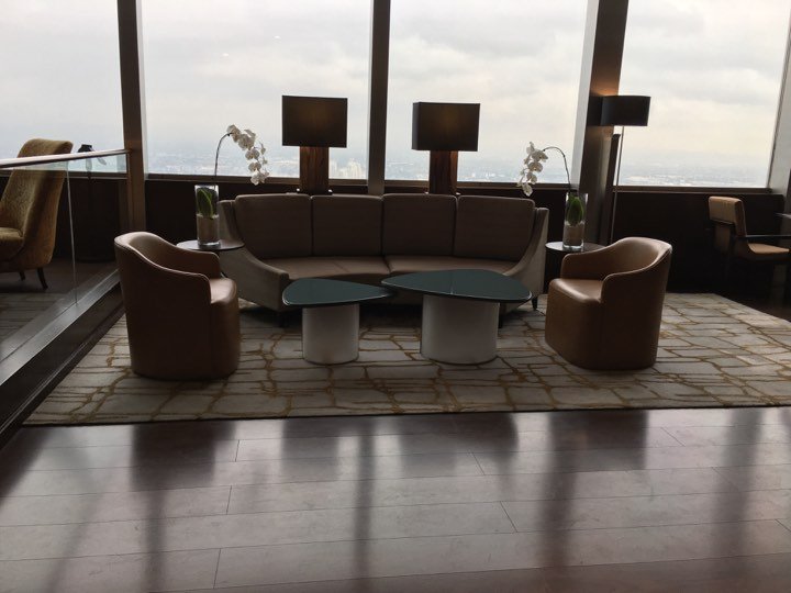 lounge at the Continental Club at Marco Polo Ortigas