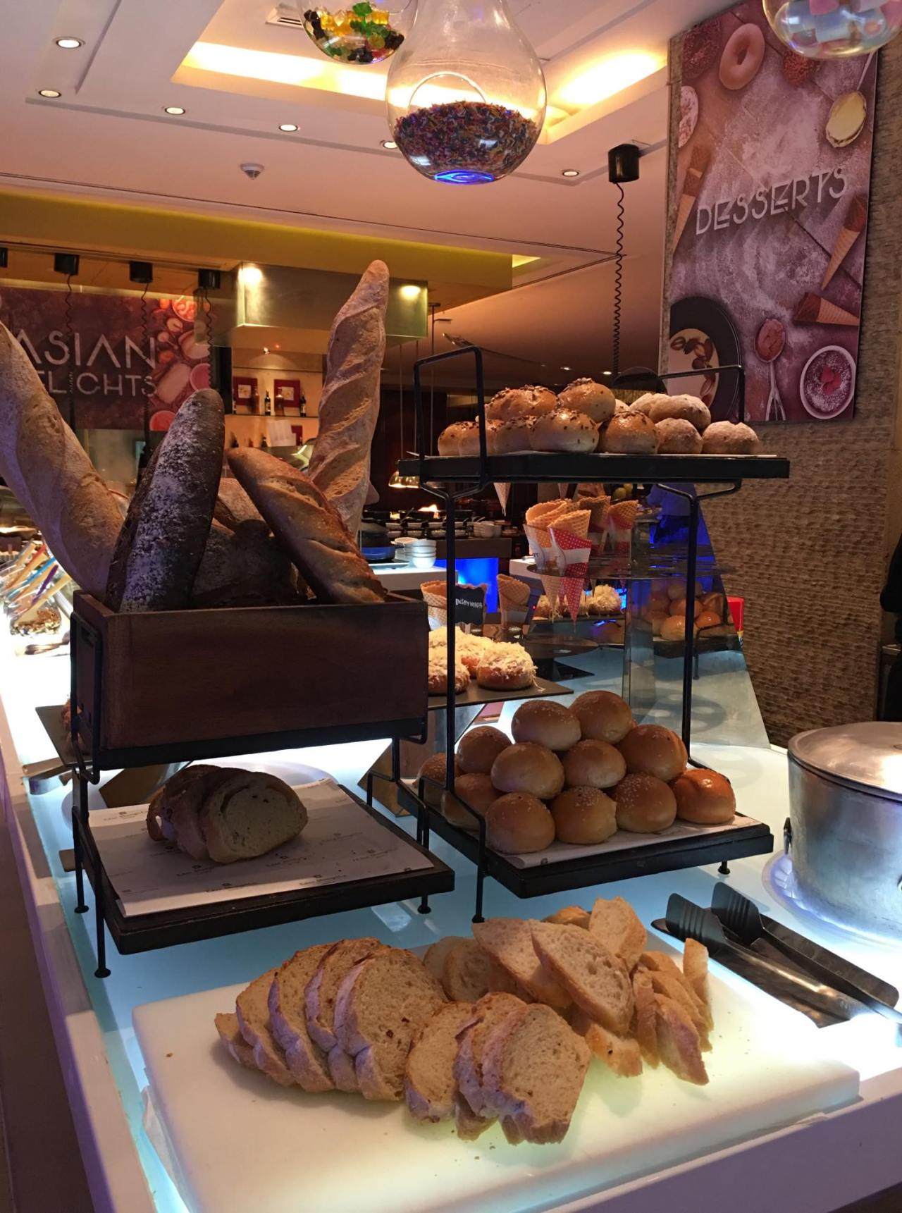 selection of breads in our breakfast buffet at the HEAT
