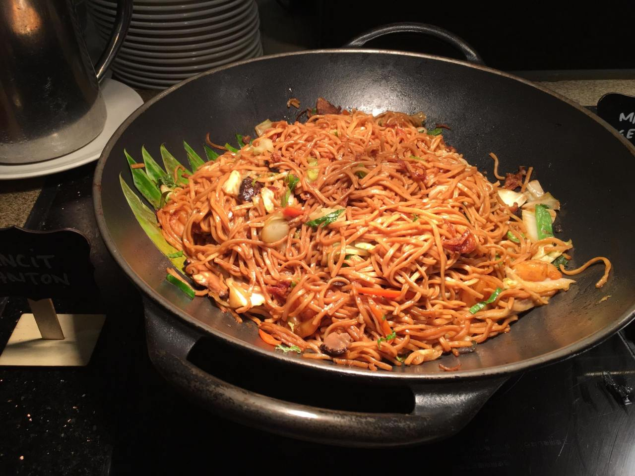 One of the Asian favorites- pancit canton in our breakfast buffet at the HEAT