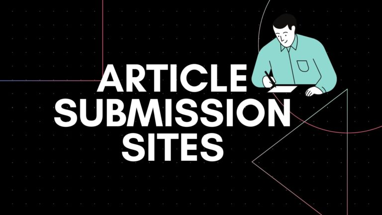 best article submission sites list