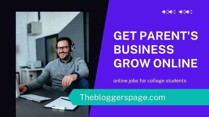 get parents business grow online jobs without investment