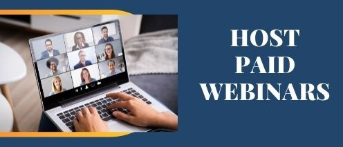 host paid webinars passive income ideas