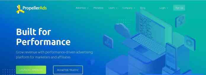 propeller ads Best google Adsense Alternatives