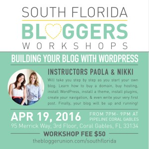 How To Build A Wordpress Blog in person Workshop miami