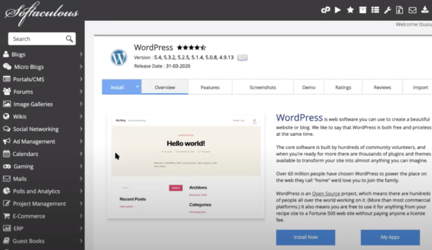 Install Now WordPress on Host Gator