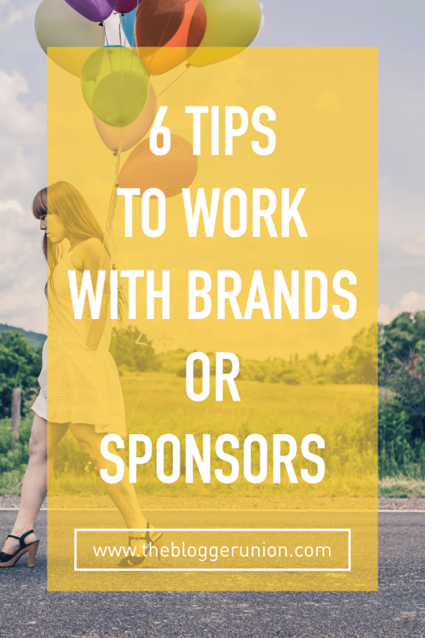 6 Tips for bloggers to work with brands or sponsors from a PR agency that hires bloggers. Click to read more or pin and save for later!