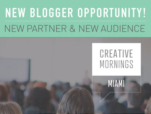Creative Mornings Miami Blog Take Over!