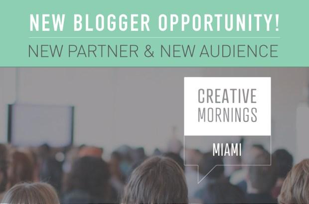 Creative Mornings Miami Blog Take Over!