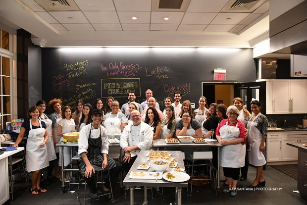 Parmigiano Regianno Blogger Cooking Class at The Biltmore Culinary Academy with Ched Dave Hackett