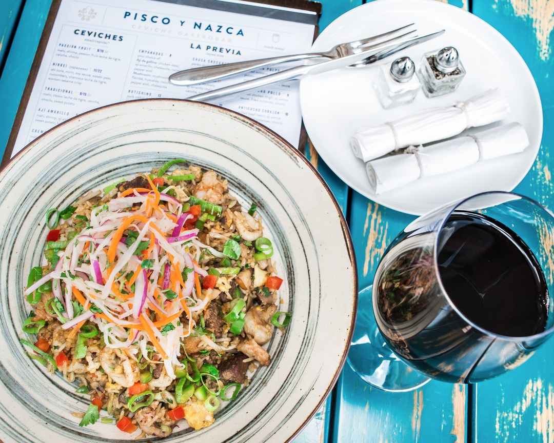 Im in love with this 'Peruvian Fried Rice' from Miami Restaurant, Pisco y Nazca. It's called Chaufa Aeropuerto.  Click to read about their other dishes on the menu or pin to save for later!
