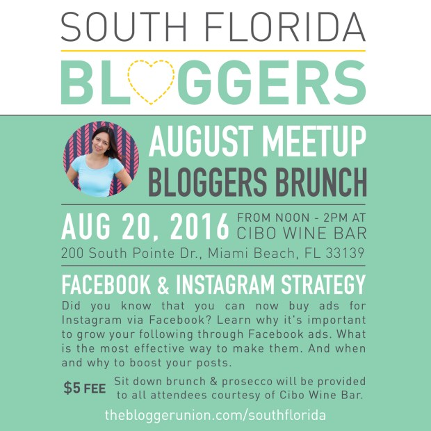 August South Florida Bloggers Meetup - Facebook Ads Strategy