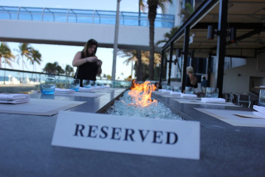 Sirens Table Ft Lauderdale Beach