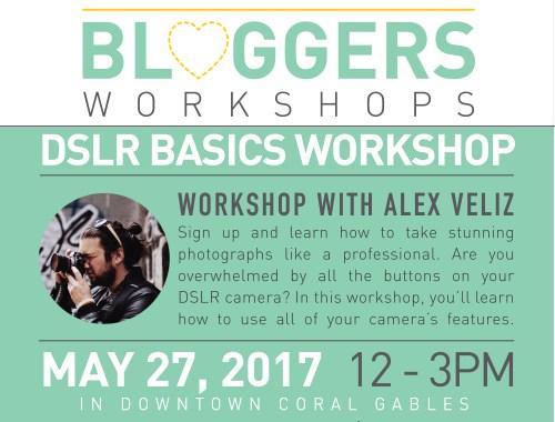 Beginner DSLR Photography Workshop by Alex Veliz