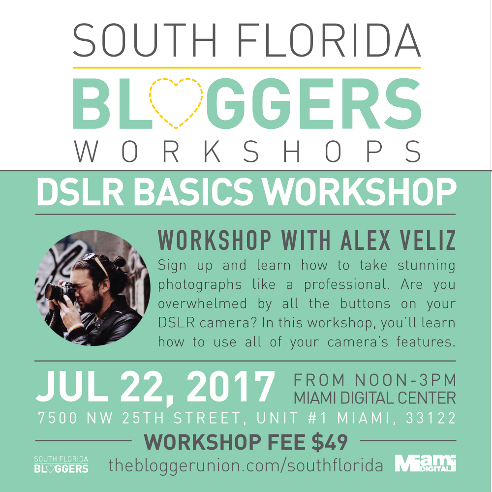DSLR Basics Beginner Photography Workshop for Bloggers