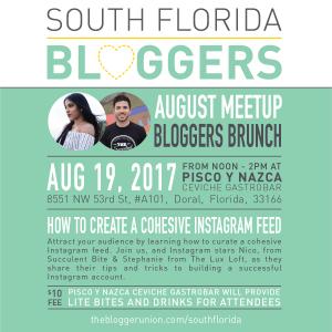August South Florida Blogger Meetup