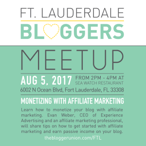 Ft. Lauderdale Bloggers Meetup August 2017