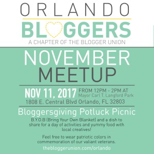 Orlando blogger chapter of the blogger union November Meetup