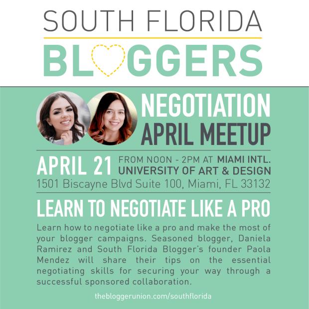 April South Florida Bloggers Meetup