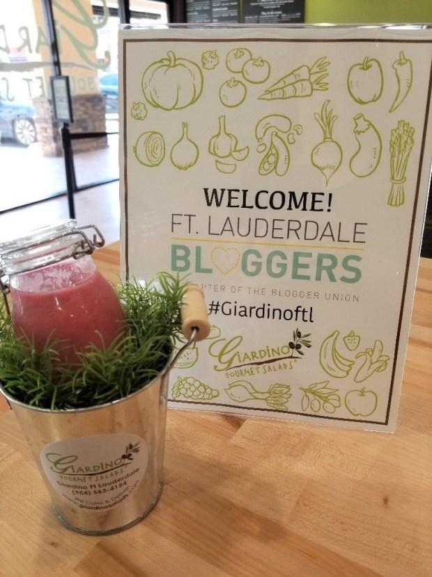 Giardino's Gourmet Salads in Ft Lauderdale hosts Ft Lauderdale Bloggers.
