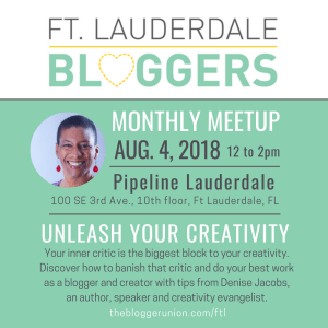 Ft Lauderdale Bloggers meetup on creativity