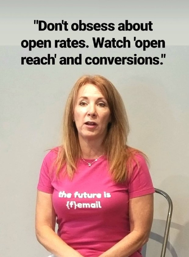 Email consultant Karen Talavera of Synchronicity Marketing speaks to Ft Lauderdale Bloggers