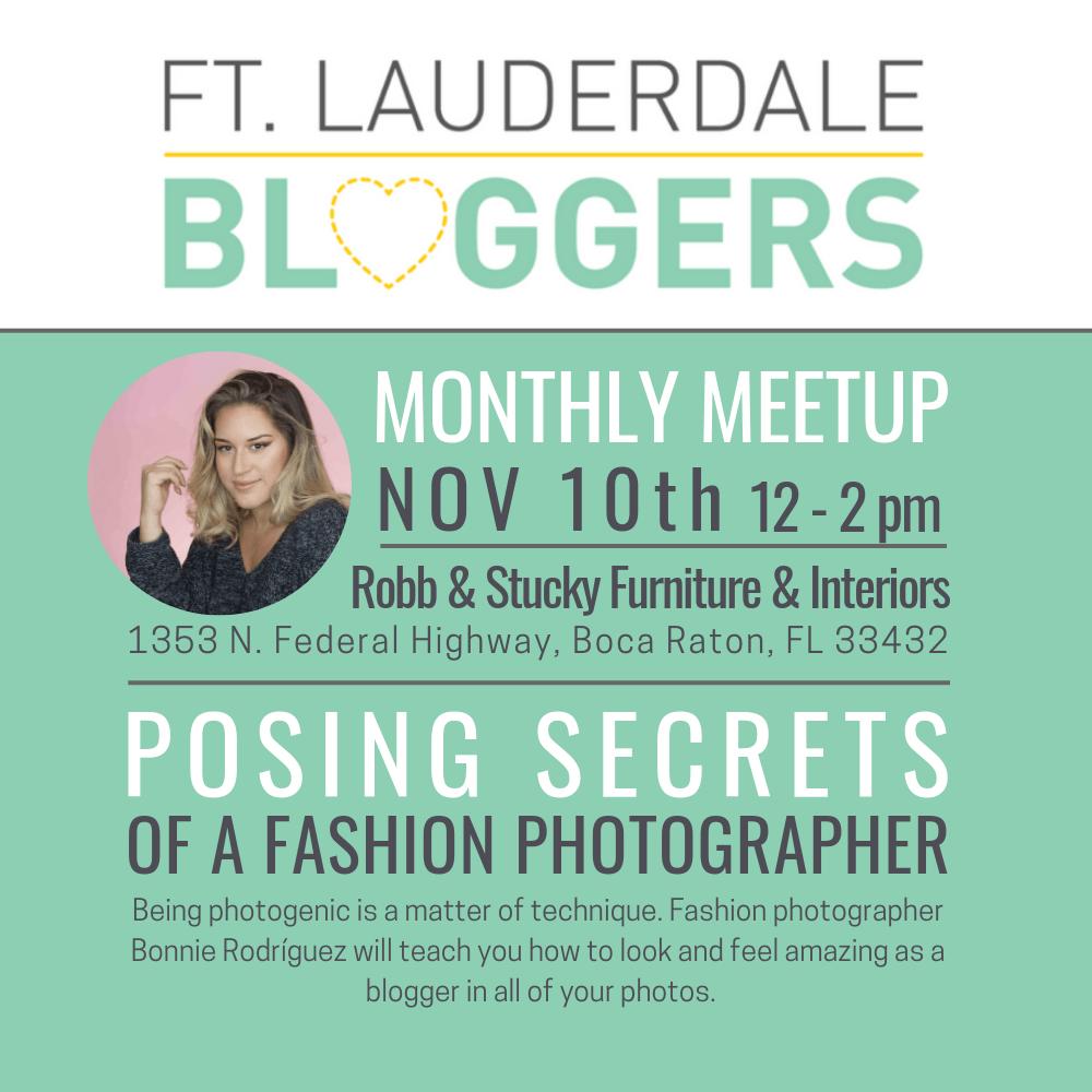 Ft Lauderdale Bloggers November 2018 Meetup with Photographer Bonnie Rodriguez