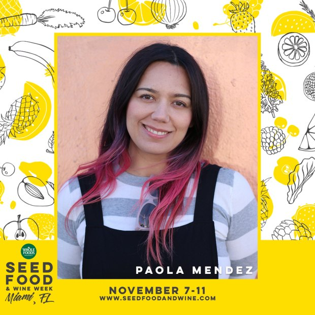 Paola Mendez, Founder of The Blogger Union Speaking at Seed Food and Wine Festival. use promo code BLOGGERUNION18 for 20% OFF your ticket price.