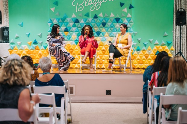 Top Miami Bloggers 2018 - South Florida Blogger Awards - Monetization Panel with Fat Girl Hedonist, Damask Love and Coral Gables Love. Origami backdrop by Dapper Animals