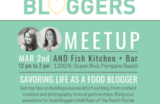 Ft Lauderdale Bloggers March Meetup on Food Blogging
