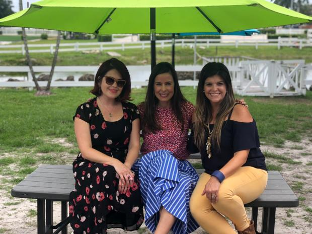 Mamitasinculpa, Claudia Caporal, happyrunhappymom and South Florida Mom Bloggers at Camp Lingua